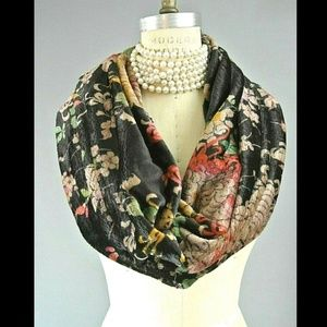 Johnny Was Scarf Moray Velour Colorful Boho Chick